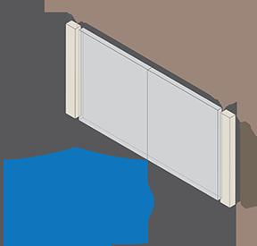 Scharnierpaal links en rechts