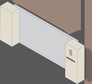 Paal links en rechts
